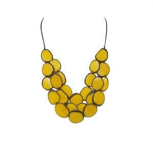 Jewelry - Handmade tagua nut set necklace and earrings